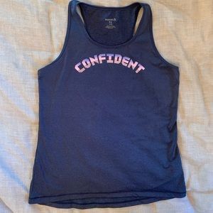"Dry fit "" confident"" tank top"